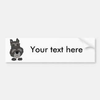 Lustige niedliche Schnauzer-Hundekunst Autoaufkleber