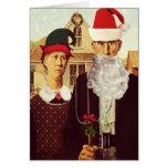 Lustige niedliche Weihnachtskarte Karten