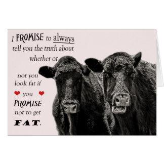 Lustige oder humorvolle Kuh-Valentinstag-Karte Karte