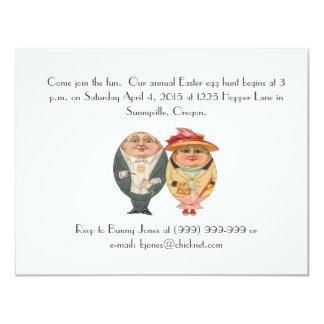 Lustige Osterei-Jagd-Vintage Party Einladung