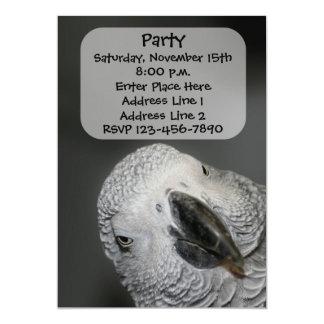 Lustige Papageien-Gesichts-Tier-Einladung 12,7 X 17,8 Cm Einladungskarte