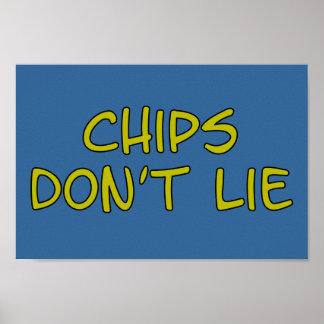 Lustige Parodieslogan Chips Poster