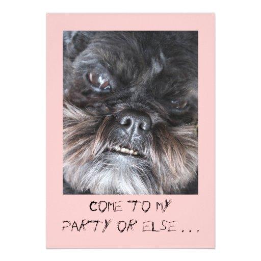 Lustige Party Einladung