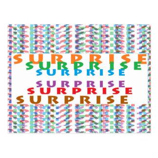 Lustige Partyspiele des ÜBERRASCHUNG Textspaßes Postkarte