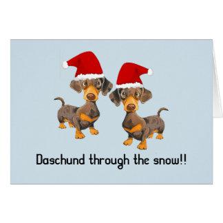 Lustige personalisierte Hundweihnachtskarte Karte