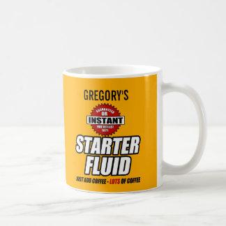 Lustige personalisierte Starter-Flüssigkeit Tasse