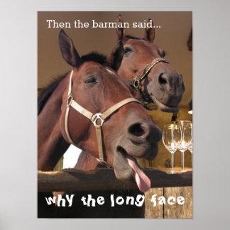 Lustige Pferde Poster