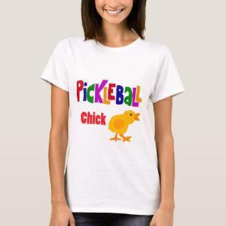 Lustige Pickleball Küken-Kunst T-Shirt