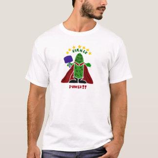 Lustige Pickleball Superheld-Essiggurke T-Shirt