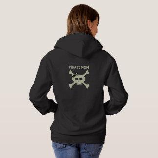 Lustige Piraten-Mamma-niedlicher Schädel und Hoodie