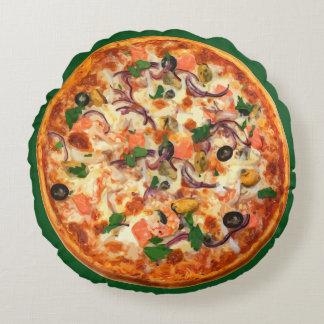 Lustige Pizza-Neuheits-Kissen Rundes Kissen