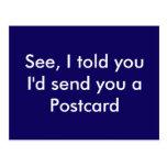 Lustige Postkarte