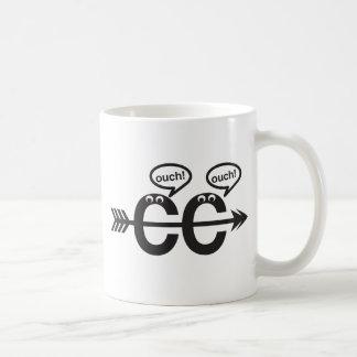 Lustige Querland-laufende Läufer-Tasse - autsch! Tasse