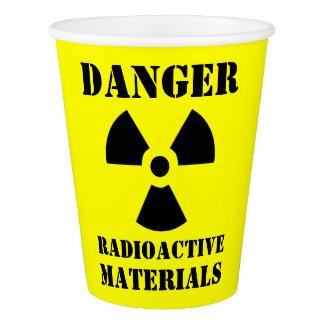 Lustige radioaktive Materialien Halloween Pappbecher