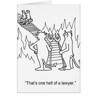 Lustige Rechtsanwalt-Gruß-Karte Karte