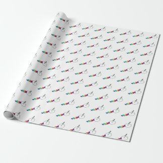 Lustige Regenbogen-Einhorn-Schwimmen-Samenzellen Geschenkpapier