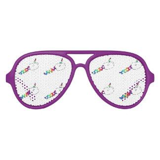 Lustige Regenbogen-Einhorn-Schwimmen-Samenzellen Sonnenbrille