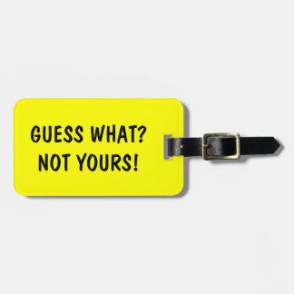 Lustige Reise-Gepäckanhänger | Vermutung was? Kofferanhänger