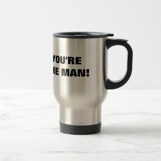Lustige Reise-Tasse für Männer | sind Sie der Mann Edelstahl Thermotasse