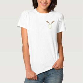 Lustige Ren-Frauen stickten Polo-Shirt Besticktes T-Shirt