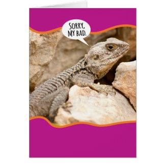 Lustige Reptil-Funktionsstörungs-Entschuldigung Grußkarte