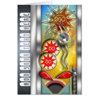 Lustige Retro Flipperautomat-Maschine Karte