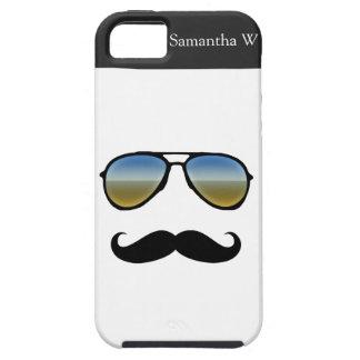 Lustige Retro Sonnenbrille mit Schnurrbart iPhone 5 Hüllen