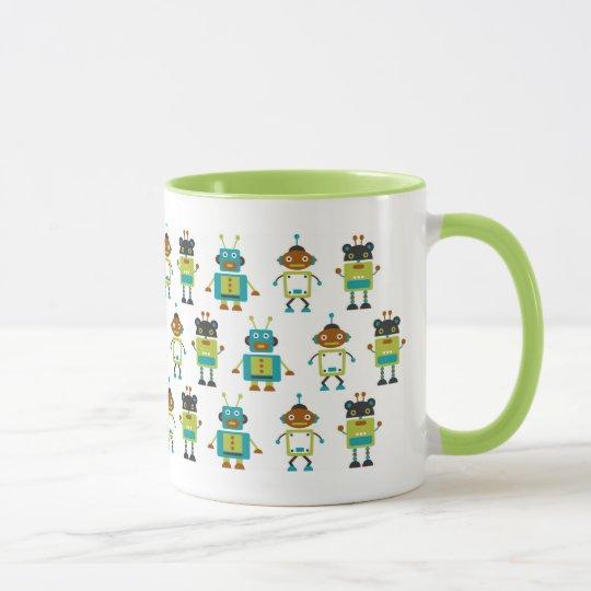 Lustige Roboter Tasse