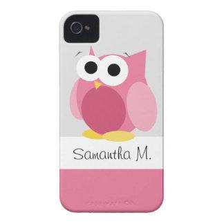 Lustige rosa Eule - personalisierter iPhone 4/4S F iPhone 4 Hülle