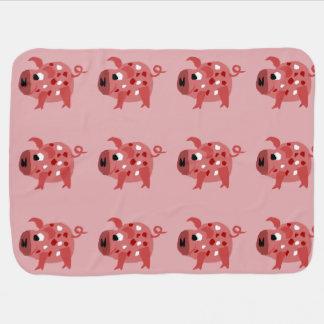 Lustige rosa Schwein-Vorlagen-Kunst Puckdecke