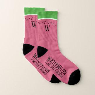 Lustige rosa Wassermelone ist meine Socken