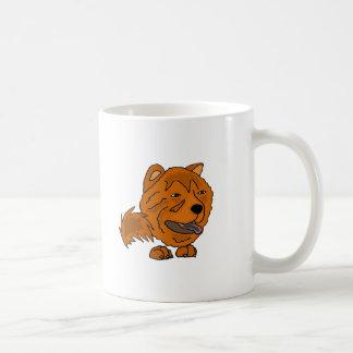 Lustige rote Chow-Chow-Hundekunst Kaffeetasse