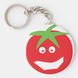 lustige rote Tomateikone Schlüsselanhänger