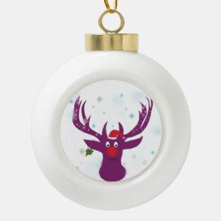 Lustige Rotwild-Keramik-Ball-Dekoration Keramik Kugel-Ornament