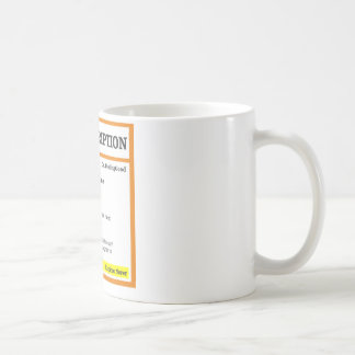 Lustige rx Verordnung Kaffeetasse