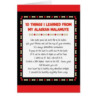 Lustige Sachen I gelernt von meinem alaskischen Karte