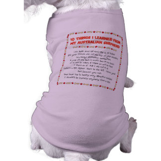 Lustige Sachen I gelernt von meinem australischen Ärmelfreies Hunde-Shirt