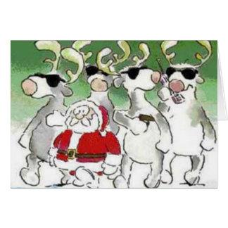 Lustige Sankt-Geheimagent-Ren-Weihnachtskarte Karte