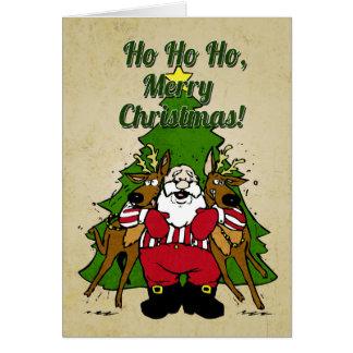 Lustige Sankt-Weihnachtskarte Karten