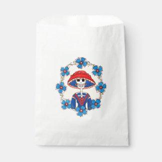 Lustige Schädel-Bevorzugungs-Tasche Geschenktütchen