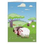 Lustige Schafe Karte