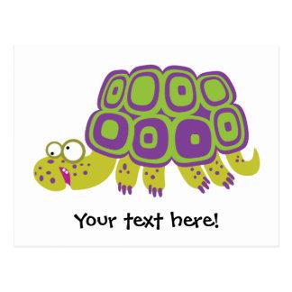 Lustige Schildkröte Postkarte