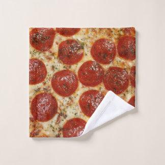 Lustige schmierige Pepperoni-Pizza Waschlappen