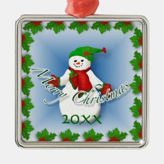 Lustige Schneemann-Weihnachtsandenken-Verzierung Weihnachtsbaum Ornament