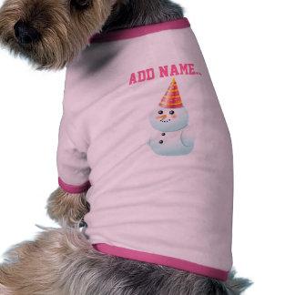 Lustige Schneemänner Hund T Shirts