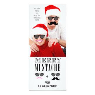 Lustige Schnurrbart-Feiertags-Foto-Karte 10,2 X 23,5 Cm Einladungskarte