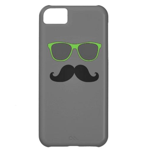 LUSTIGE SCHNURRBART-GRÜN-SONNENBRILLE iPhone 5C COVER