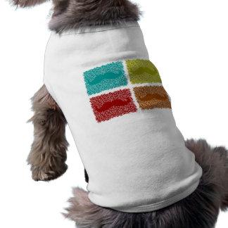 Lustige Schnurrbärte Hund T-shirt