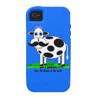 lustige Schnurrbartkuh Case-Mate iPhone 4 Case