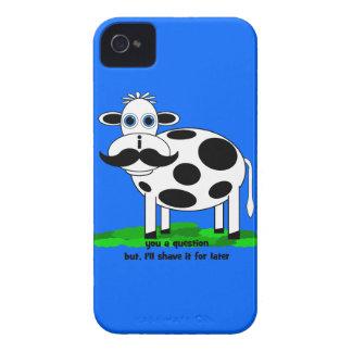lustige Schnurrbartkuh iPhone 4 Case-Mate Hülle